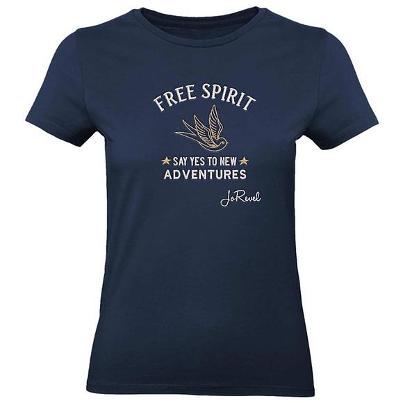 T-Skjorte Dame med Logo Brodert Free Spirit
