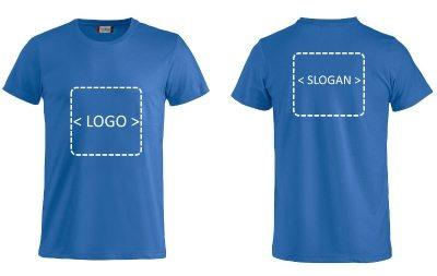 t-skjorte med logo trykk profilklær