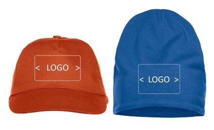 lue caps med brodert logo profilklær