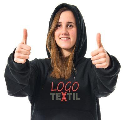 genser med logo trykk brodert