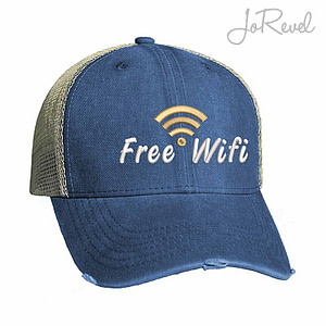 free wifi trucker caps jorevel embroidery collection