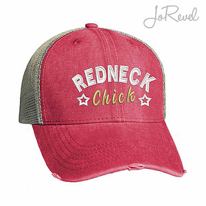 Trucker Cap Redneck Chick Embroidery JoRevel