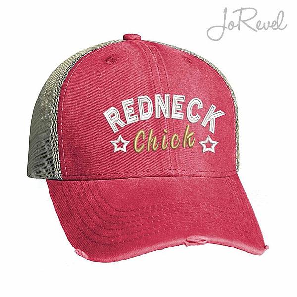 Trucker Cap Redneck Chick Embroidery JoRevel