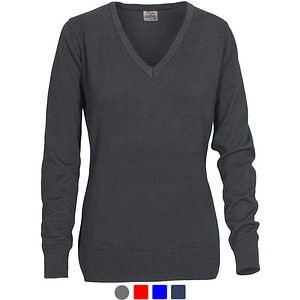 V Neck Knitted Sweater with Logo Workwear Promowear