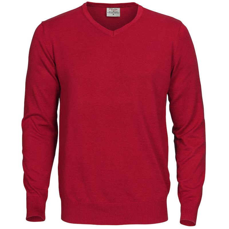 V Neck Knitted Sweater with Logo Workwear Promowear