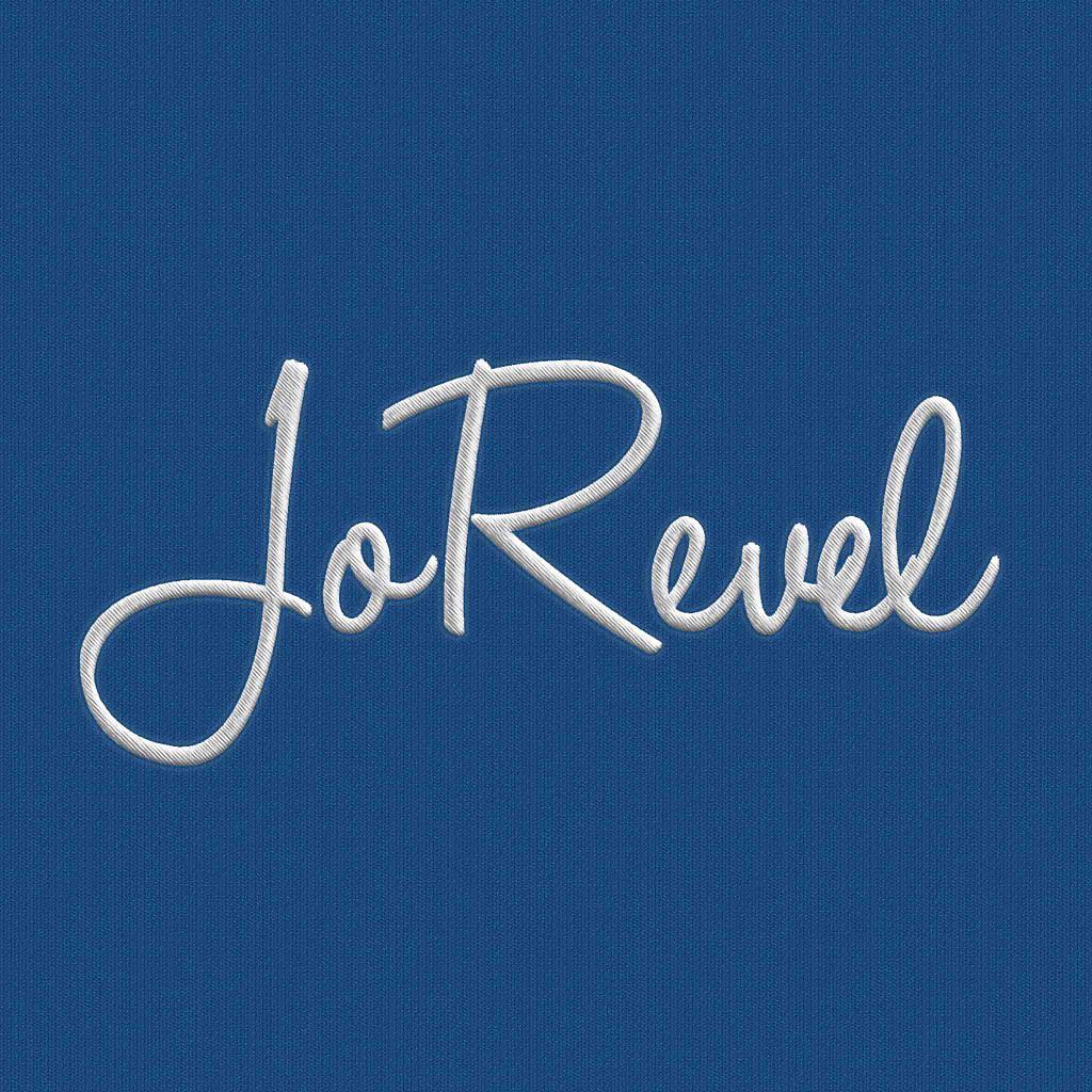 JoRevel logga broderade kläder